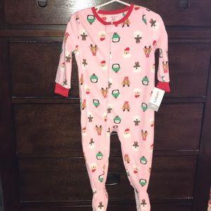 Carters 18mo pink Christmas footie pajamas nwt